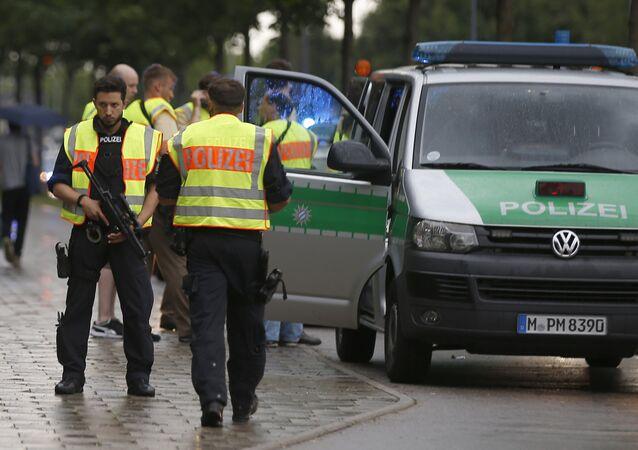 La police de Munich lors de la fusillade du 22 juillet 2016