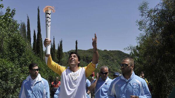 La flamme olympique de Rio en Grèce (archives) - Sputnik France