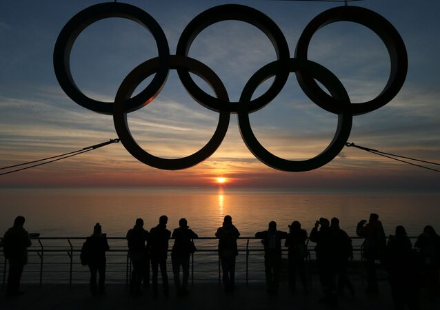 Anneaux olympiques à Sotchi, la capitale des JO 2014