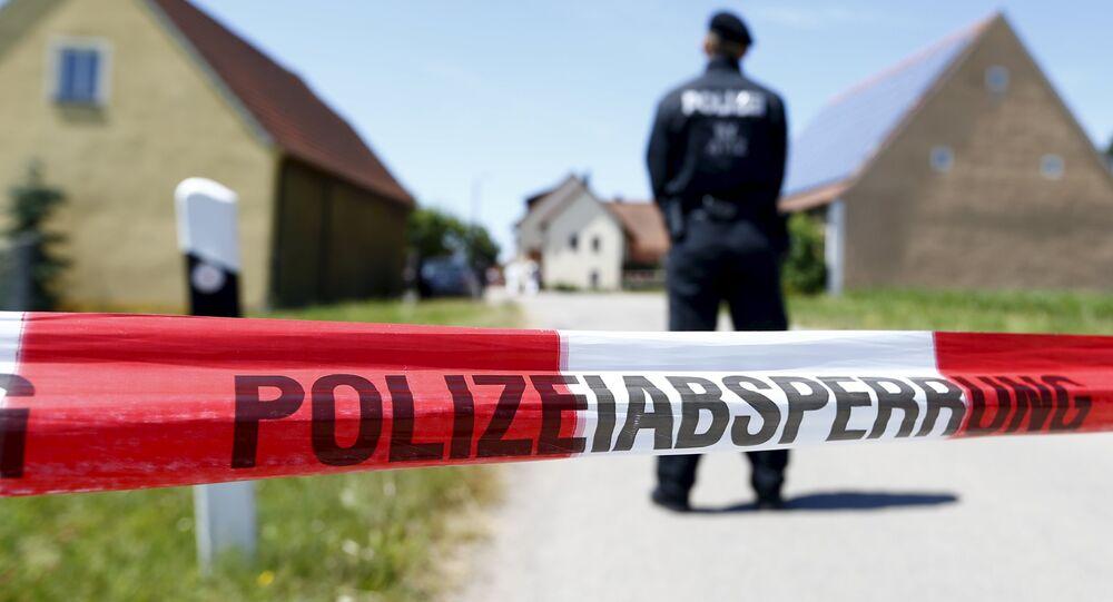 Un secteur bouclé par la police en Allemagne