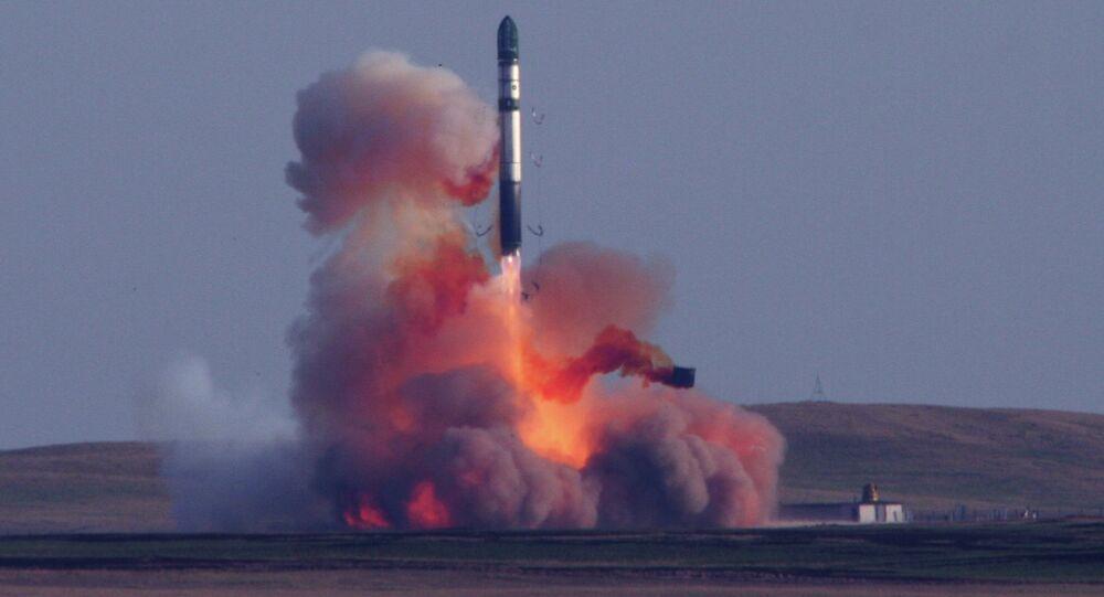 Le missile balistique soviétique SS-18 Satan