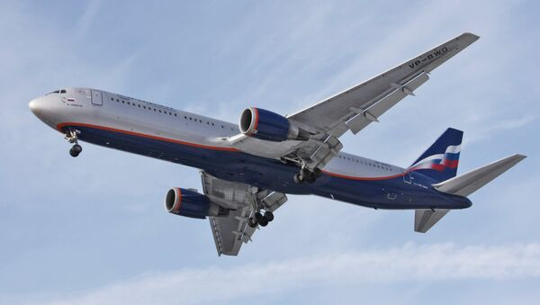 Aeroflot Russian Airlines Boeing-767 at Sheremetyevo airport. - Sputnik France