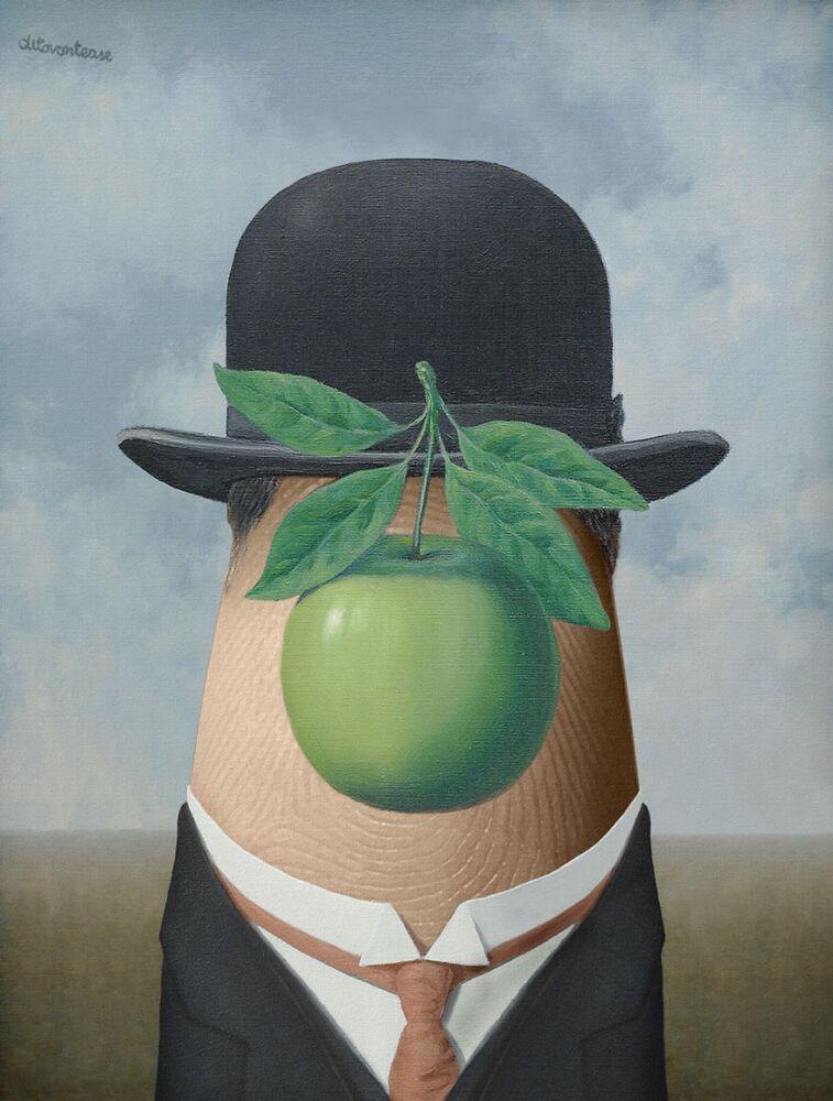 Le Fils de l'homme par René Magritte