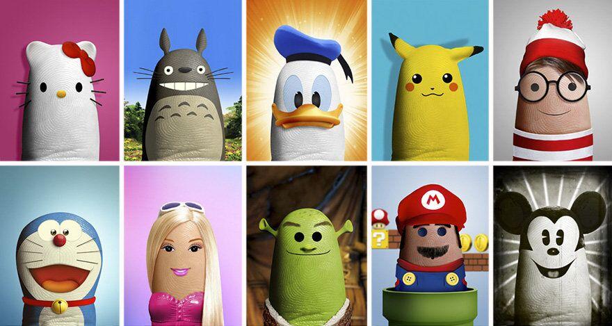 Des personnages de dessins animés