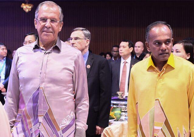 Ministre russe des Affaires étrangères Sergueï Lavrov en Malasie. Image d'illustration
