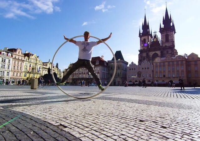 Spinning through Prague!