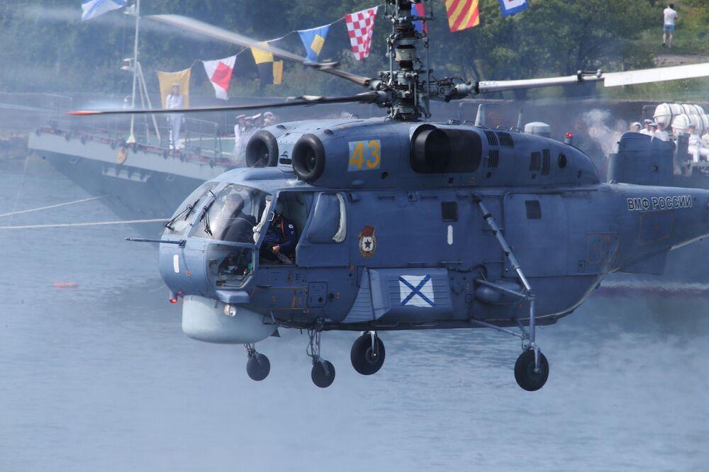 Répétition générale de la Journée de la marine russe à Baltiisk