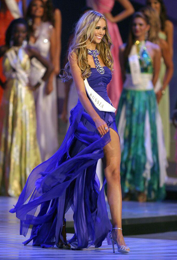 Ksenia Soukhinova, élue Miss Monde en 2008, est devenue la deuxième Russe à gagner le concours après Julia Kourotchkina, couronnée en 1992