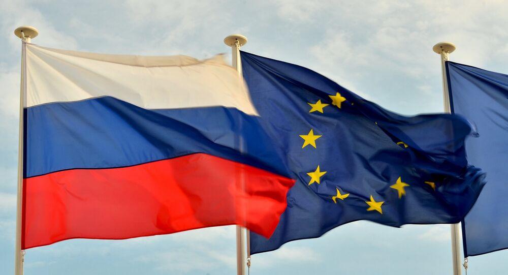 Drapeaux russe, européen et français installés à Nice (Archives)