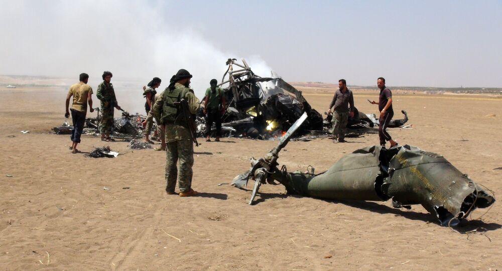 Mi-8 russe abattu en Syrie
