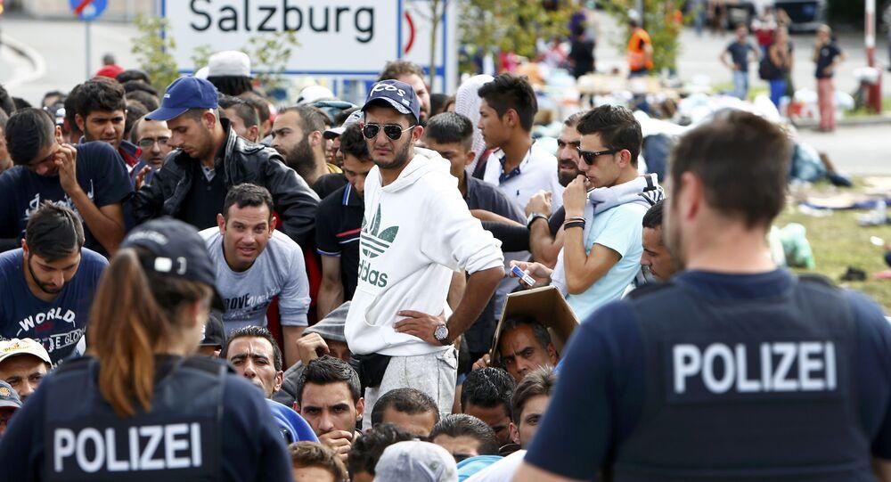 Migrants en Allemagne. Image d'illustration