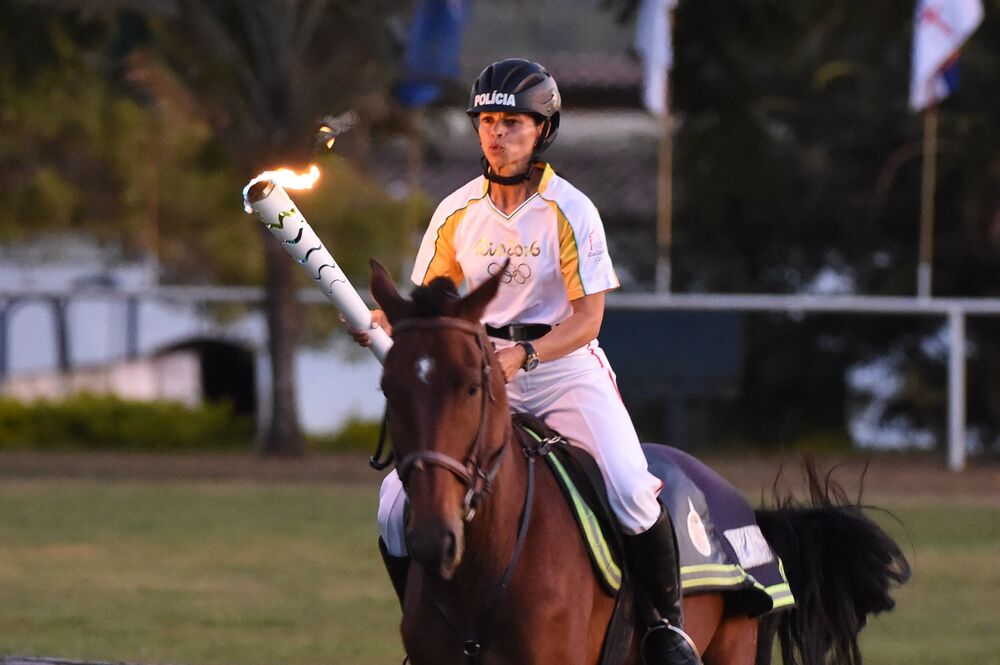 Le relais de la flamme olympique au Brésil