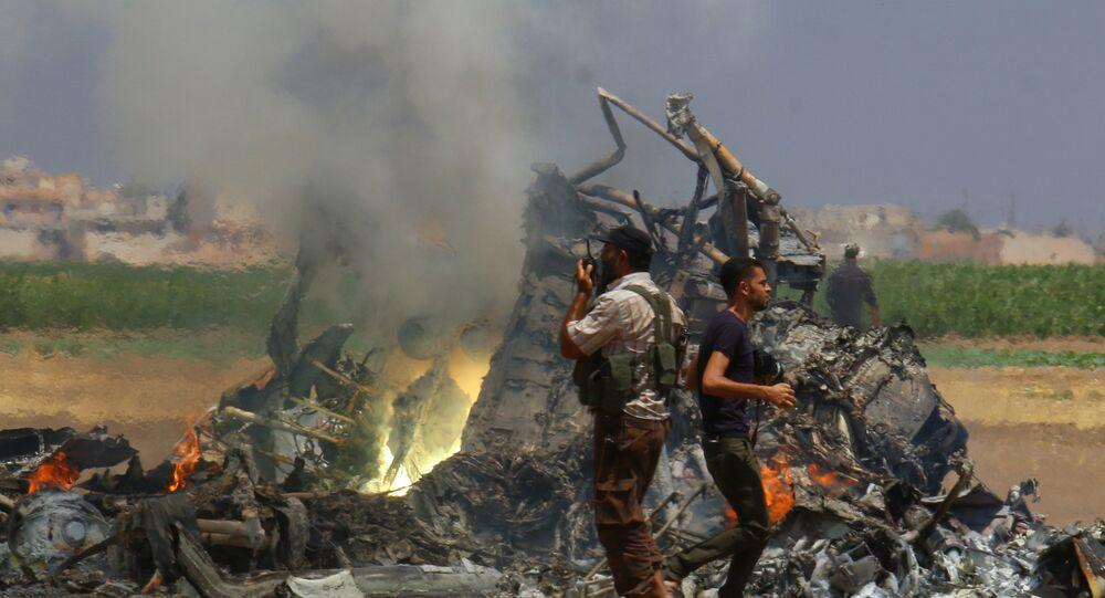 Mi-8 abattu par des djihadistes en Syrie