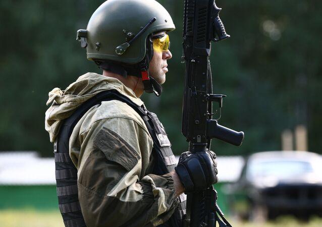 Agent des forces spéciales russes. Image d'illustration