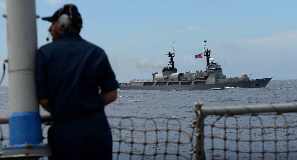Exercices navales en mer de Chine en 1014