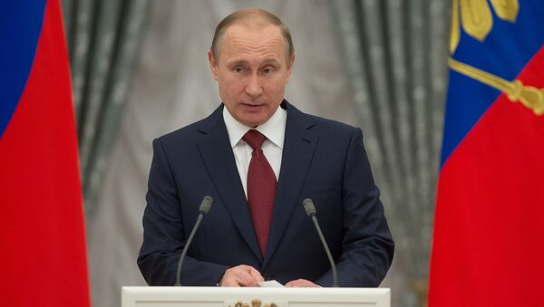 Vladimir Putin presents Hero of Labor of the Russian Federation medals - Sputnik France