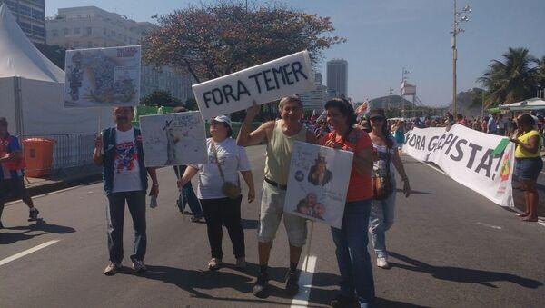 Manifestations contre les JO et le président brésilien par intérim Michel Temer - Sputnik France