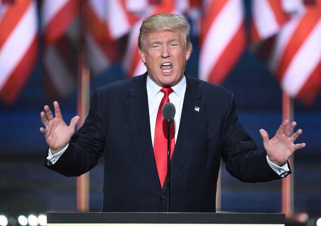 Le candidat républicain à la présidence US Donald Trump, 2016
