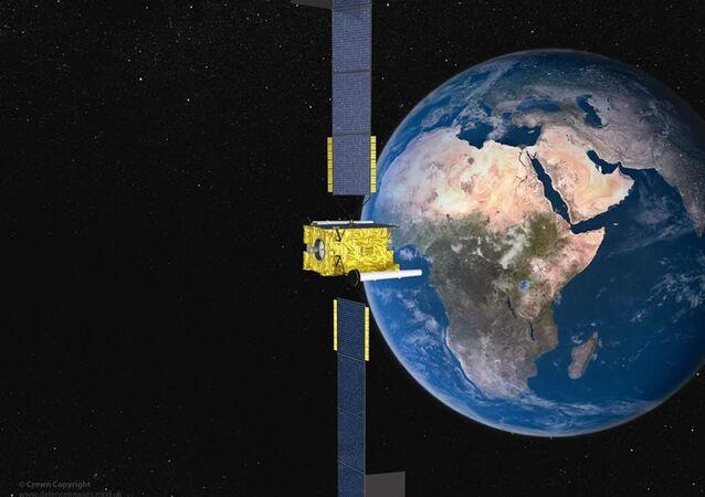 Satellite sur orbite