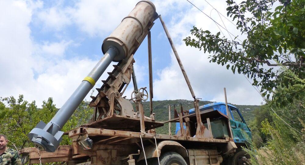 une arme moderne découverte à Alep