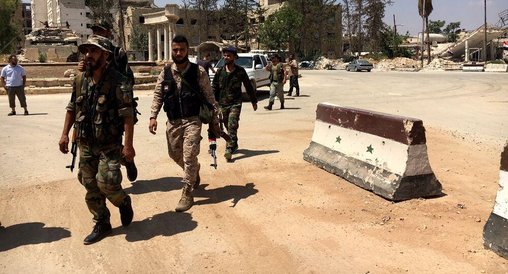 Des soldats de l'armée syrienne à Alep
