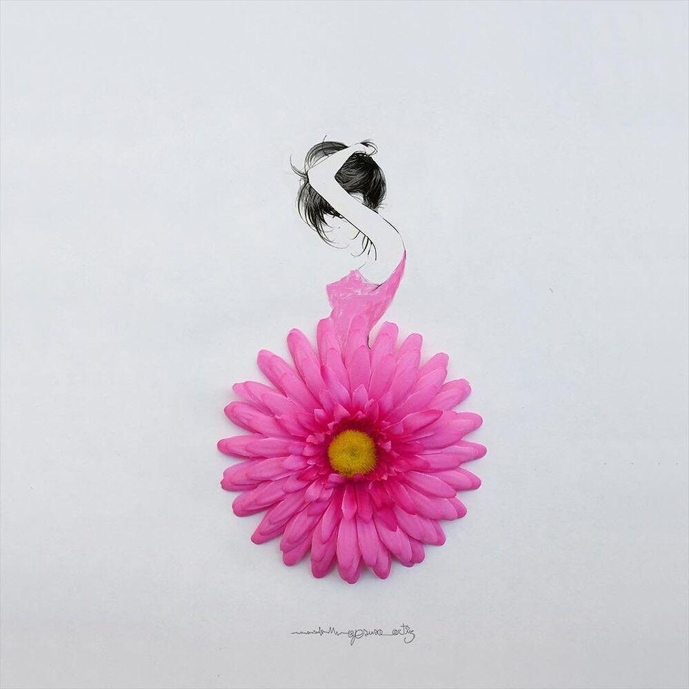 Durant toute sa vie, il a été inspiré par les fleurs. Actuellement, il reflète sa passion dans son travail.