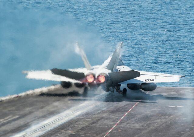 Un chasseur des forces aériennes américaines