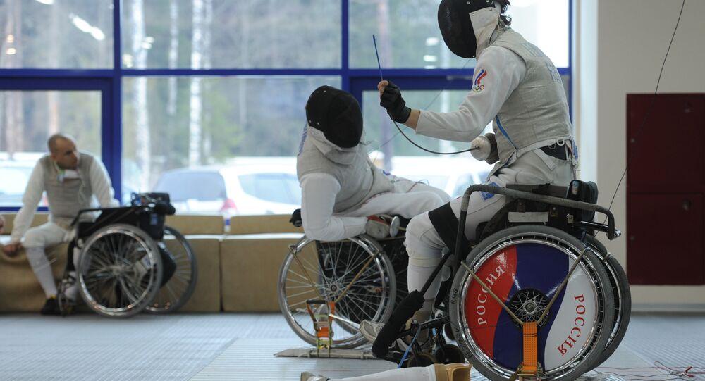 Les ecrimeurs paralympiques russes