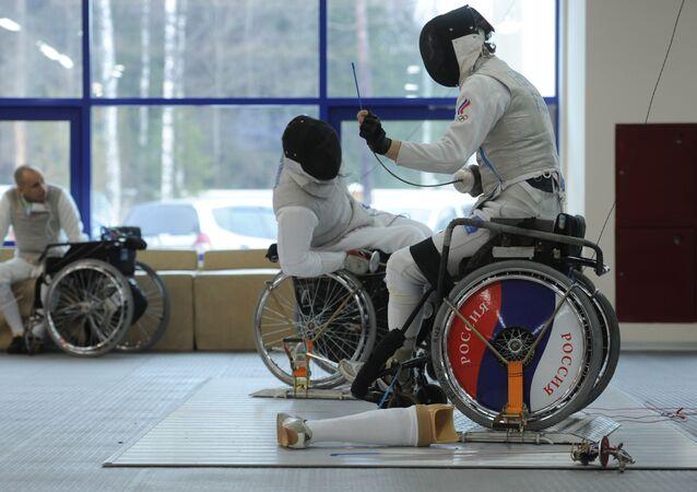 Une caricature insultant l'équipe paralympique russe payée par le budget allemand