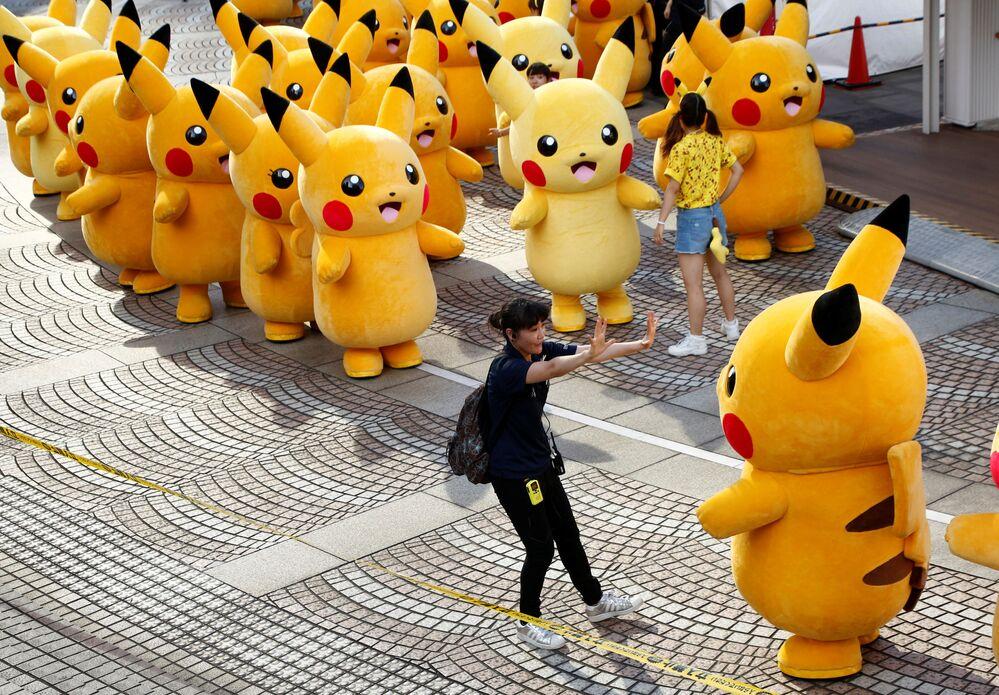 Cette parade de Pikachu se déroule dans la ville japonaise d'Yokohama du 7 au 14 août.