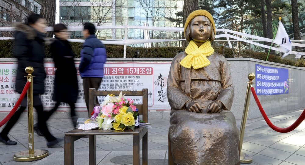 statue d'hommage aux femmes de réconfort