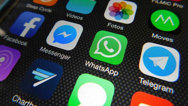 Des messageries Whatsapp, Facebook Messenger, Telegram, Messages - Sputnik France