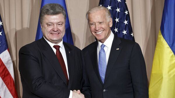 Joe Biden et Petro Porochenko en 2016 - Sputnik France