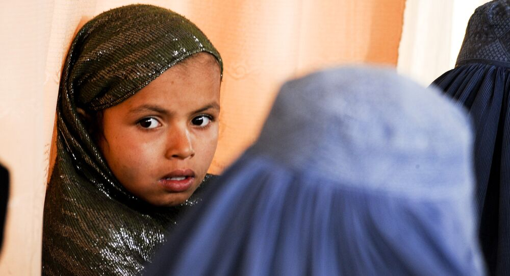 Une fille afghane