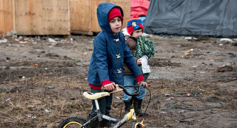 Des enfants réfugiés