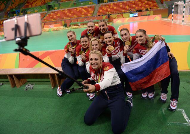 l'équipe féminine russe de handball