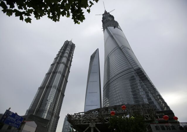 Un gratte-ciel chinois
