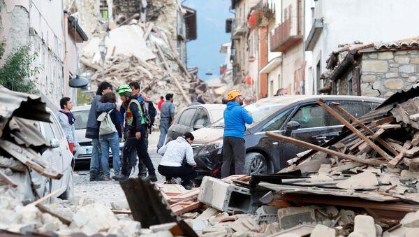 Les conséquences du séisme en Italie - Sputnik France