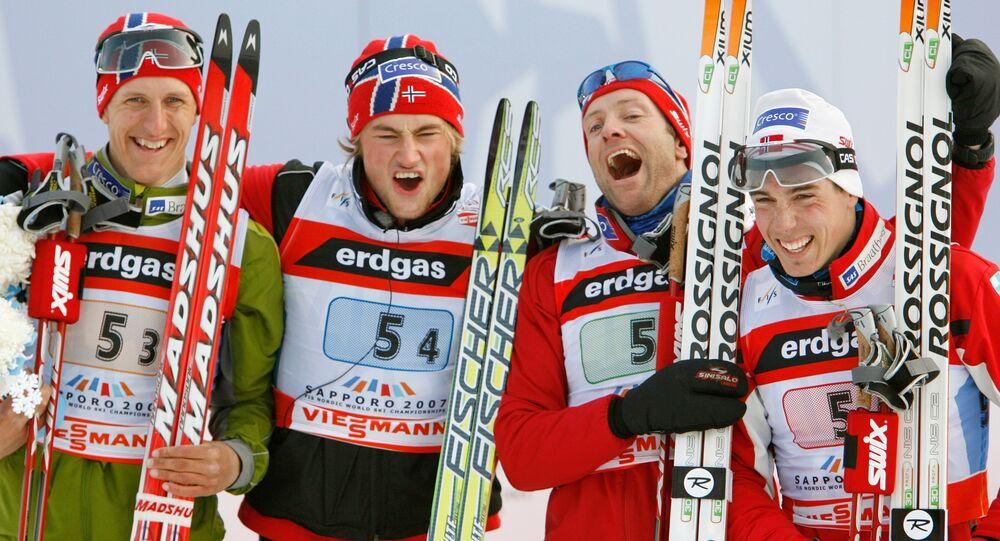 Skieurs norvégiens