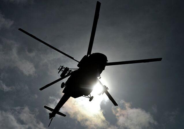 Un hélicoptère (image de démonstration)