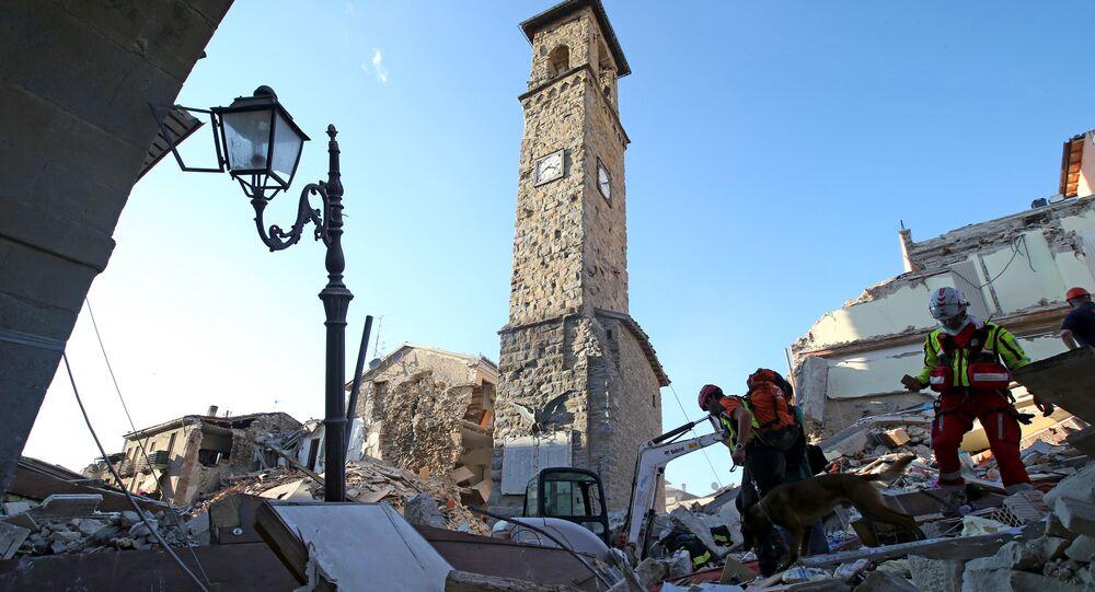 Amatrice après le séisme