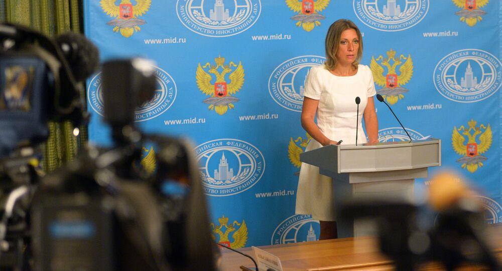 Maria Zakharova, porte-parole de la diplomatie russe