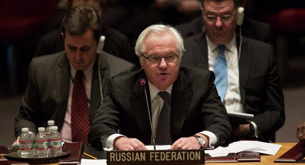Vitali Tchourkine, représentant permanent de la Russie auprès de l'Onu