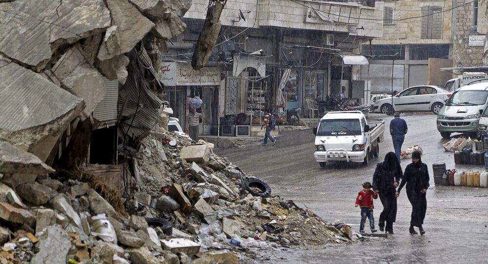 Une ville de la province syrienne d'Idlib (archives)