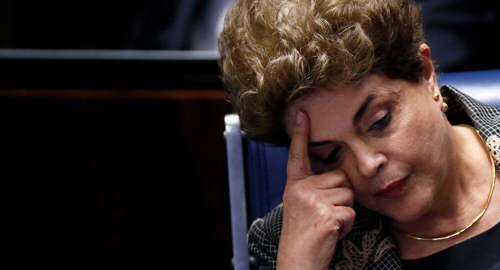La présidente brésilienne destituée Dilma Rousseff