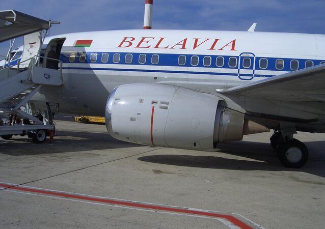 l'avion de la compagnie aérienne biélorusse Belavia