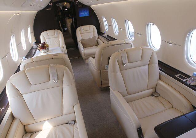 Interieur d'un jet-privé
