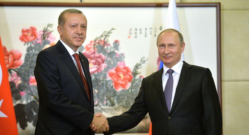 Vladimir Poutine et Recep Tayyip Erdogan à Hangzhou