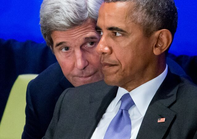 John Kerry et Barack Obama