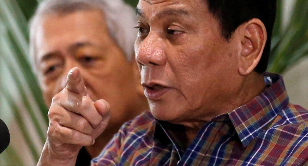 Le président des Philippines, Rodrigo Duterte. Archive photo